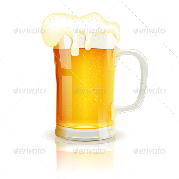 Glass of Beer - Food Objects