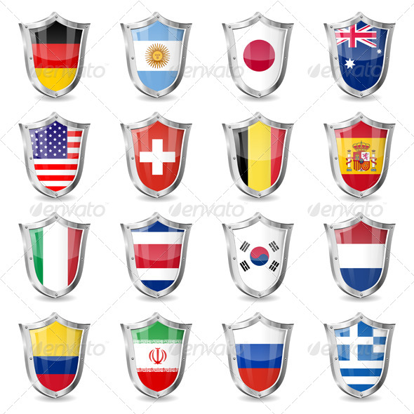 Soccer Flags on Shields
