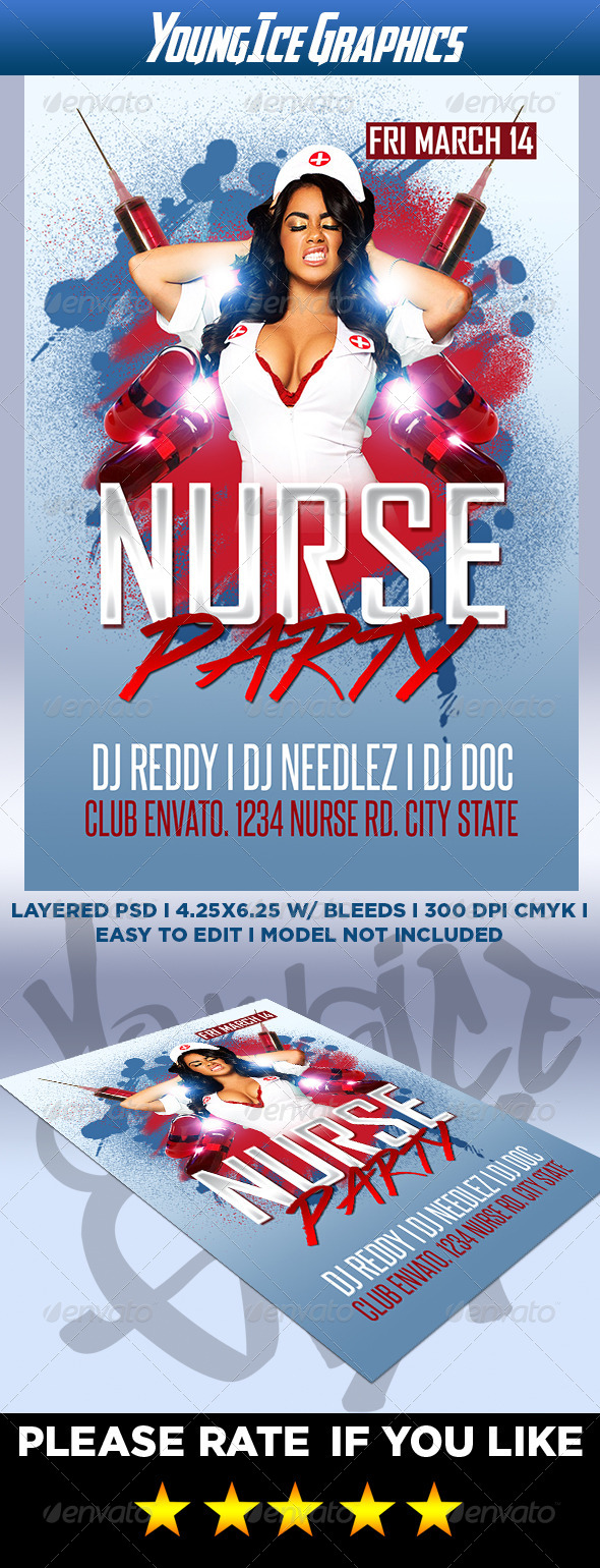 Nurse Party Flyer - Clubs & Parties Events
