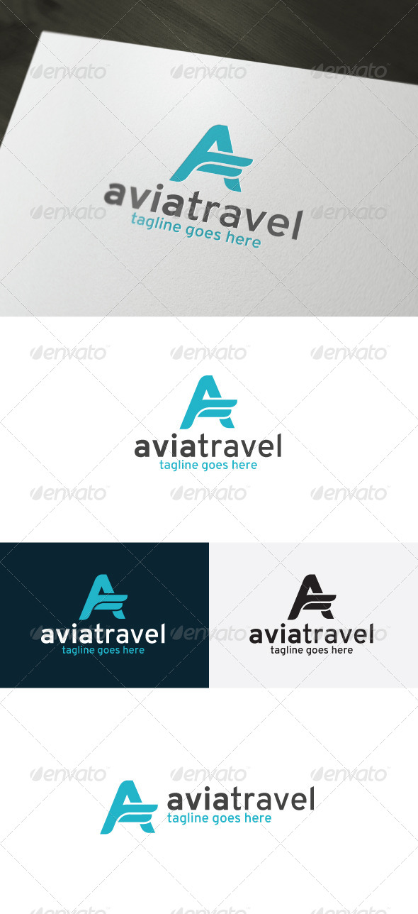 Avia Travel Logo — Letter A - Letters Logo Templates