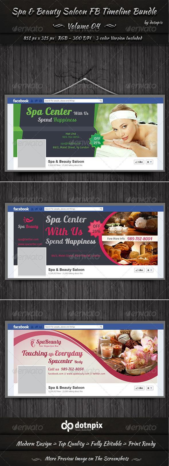 Spa & Beauty Saloon FB Timeline Bundle | Volume 4 - Facebook Timeline Covers Social Media