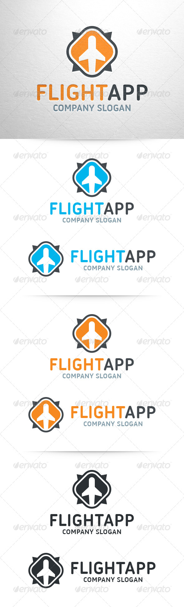 Flight App Logo Template - Objects Logo Templates