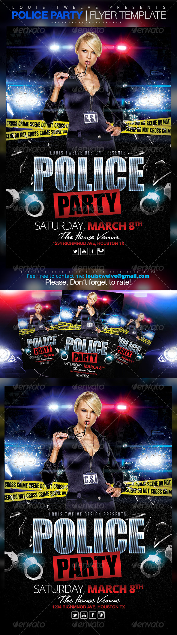 Police party flyer template by louistwelve design graphicriver police party flyer template flyers print templates saigontimesfo