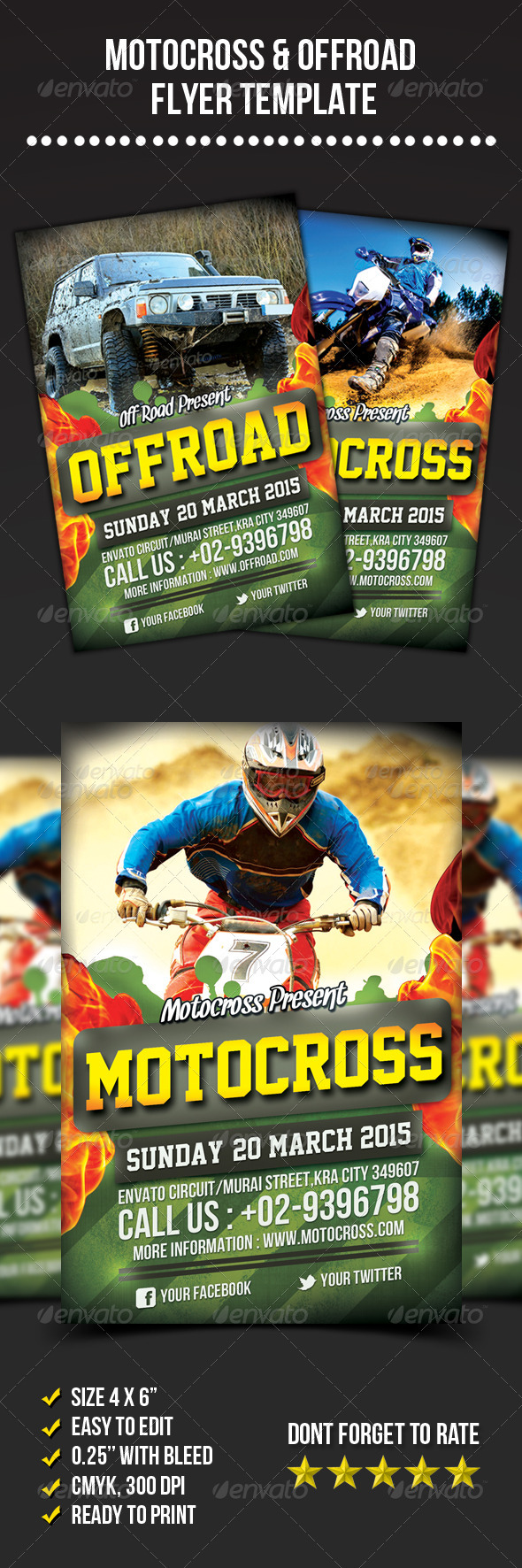 Motocross & Offroad Flyer - Sports Events
