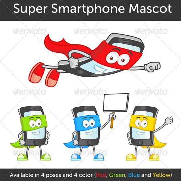 Super Smartphone - Characters Vectors