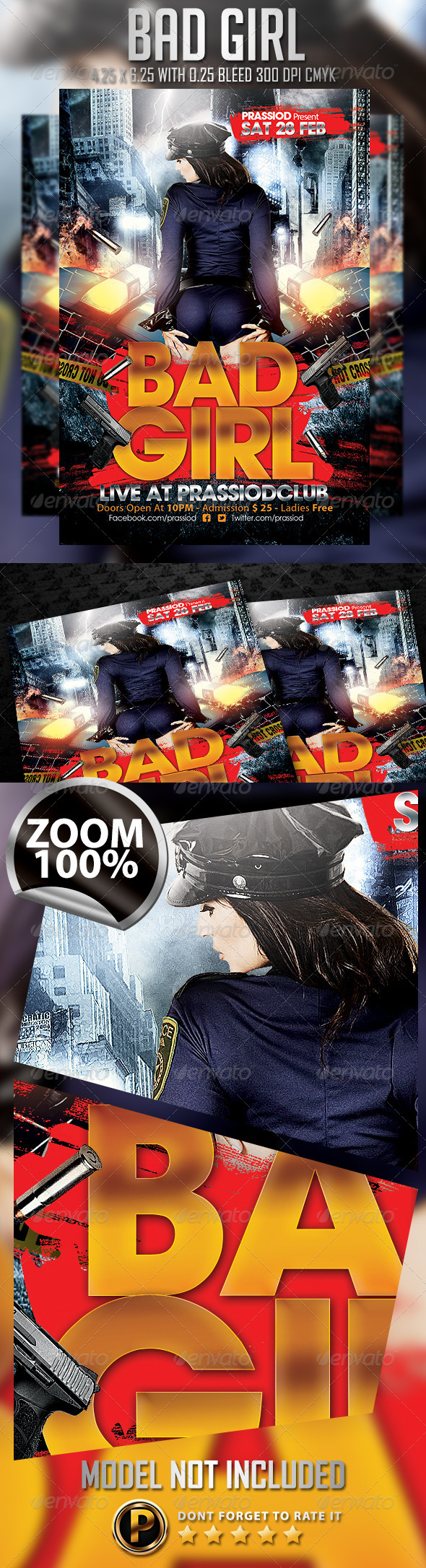 Bad Girl Flyer Template - Clubs & Parties Events