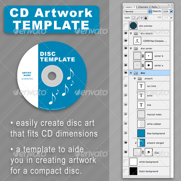 CD Disc-Art Template - Discs Packaging