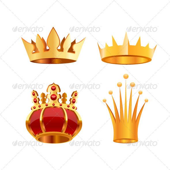 Crown Set - Decorative Vectors