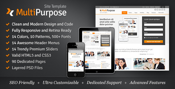 MultiPurpose - Responsive HTML5 Website Template - Corporate Site Templates