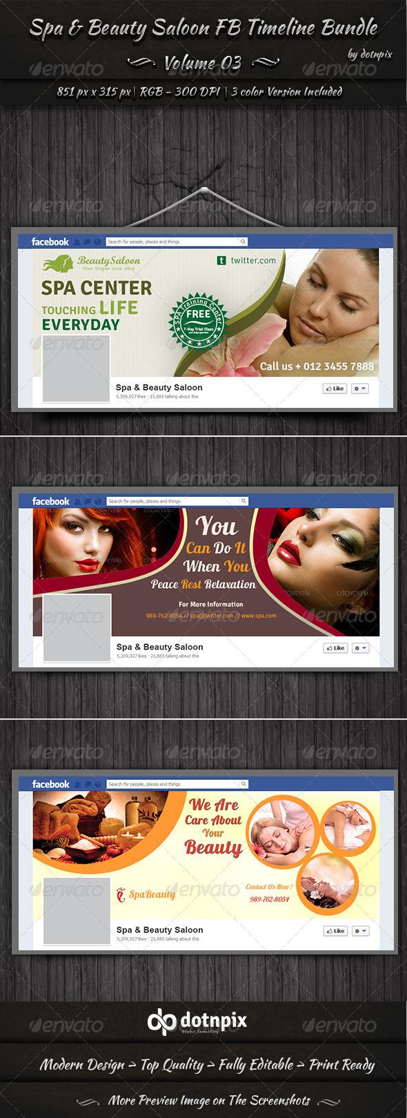 Spa & Beauty Saloon FB Timeline Bundle | Volume 3 - Facebook Timeline Covers Social Media