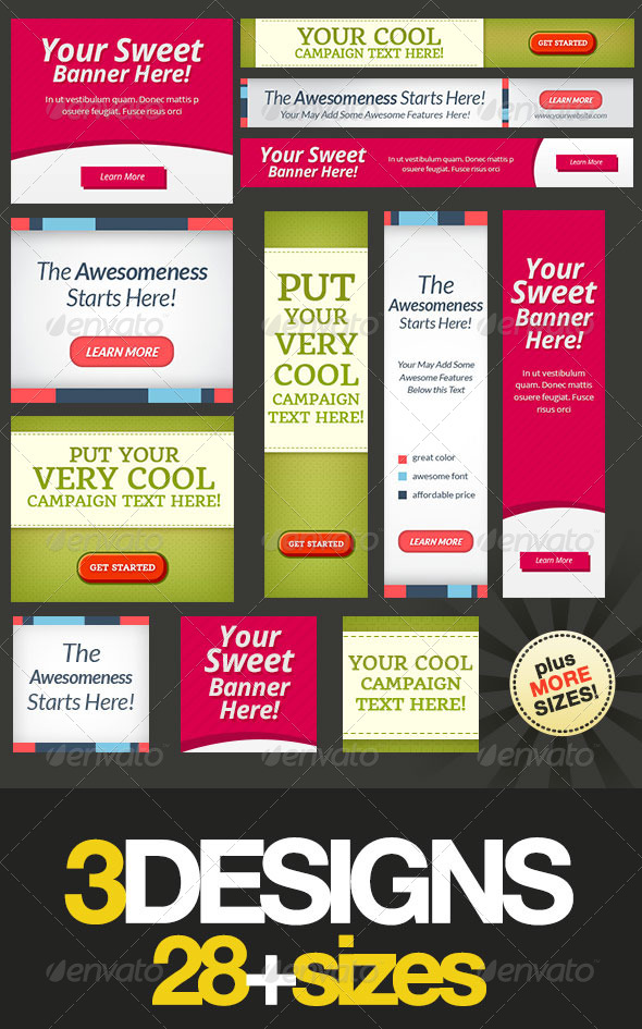 Multipurpose Web Banner Design Bundle 6 - Banners & Ads Web Elements