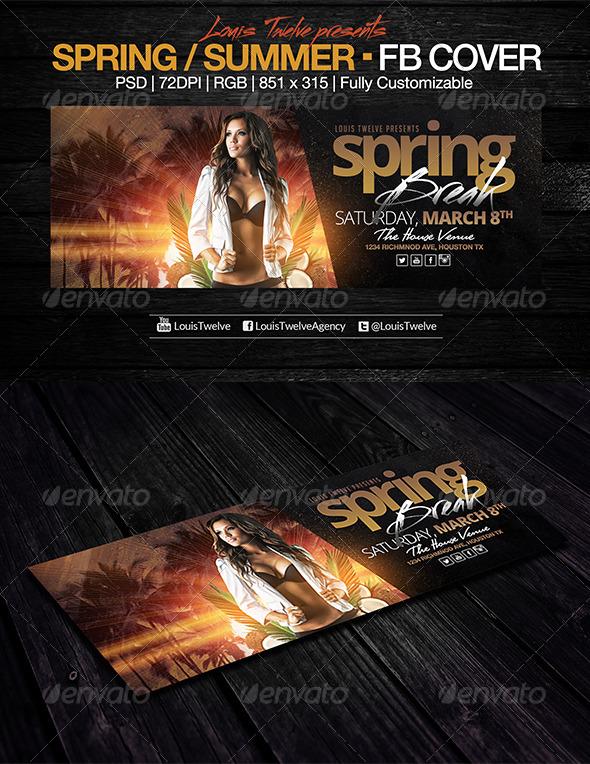 Spring Break / Summer Party | Facebook Cover - Facebook Timeline Covers Social Media