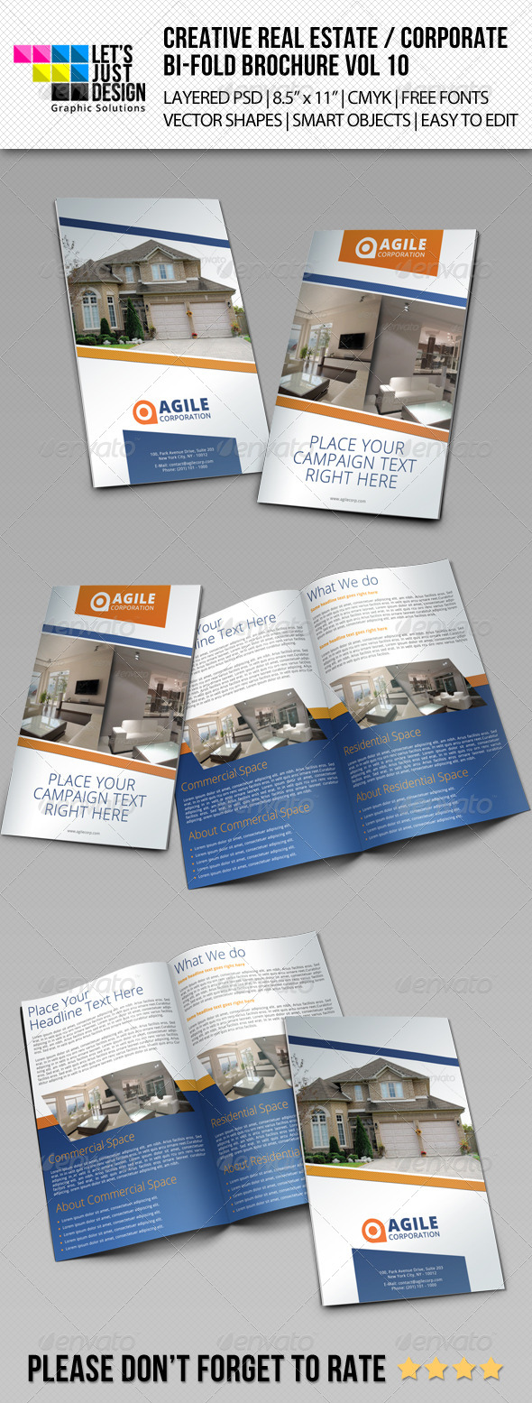 Creative Corporate Bi-Fold Brochure Vol 10 - Corporate Brochures