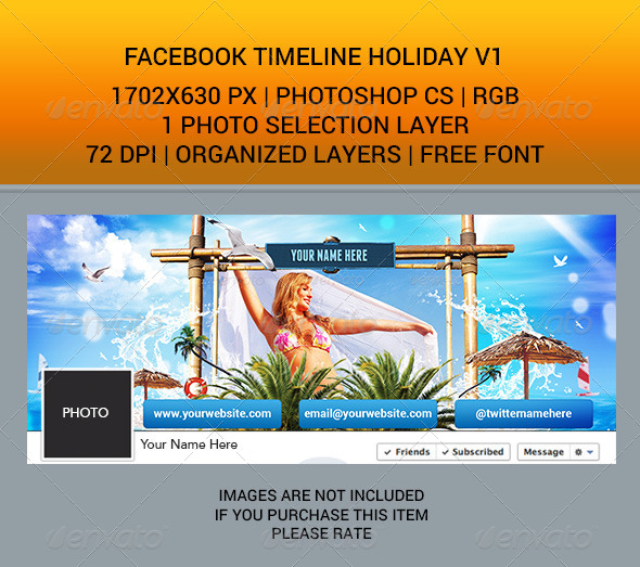 Facebook Timeline Holiday v1 - Facebook Timeline Covers Social Media