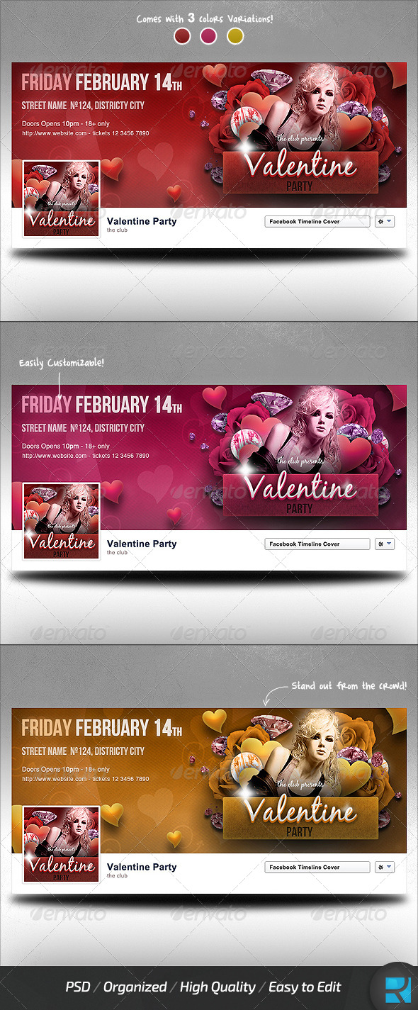 Valentine Party Facebook Timeline Cover - Facebook Timeline Covers Social Media