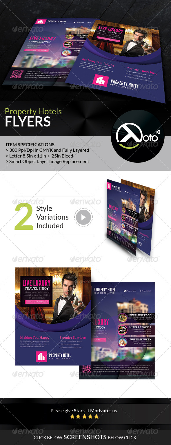 Property Hotel Promotion Flyers - Corporate Brochures