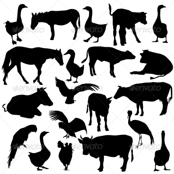 Silhouettes - Animals Characters