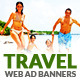 Travel - Vacation Web Ad Marketing Banners Vol 2 - GraphicRiver Item for Sale