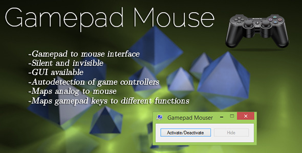 Gamepad Mouse Mapper - CodeCanyon Item for Sale