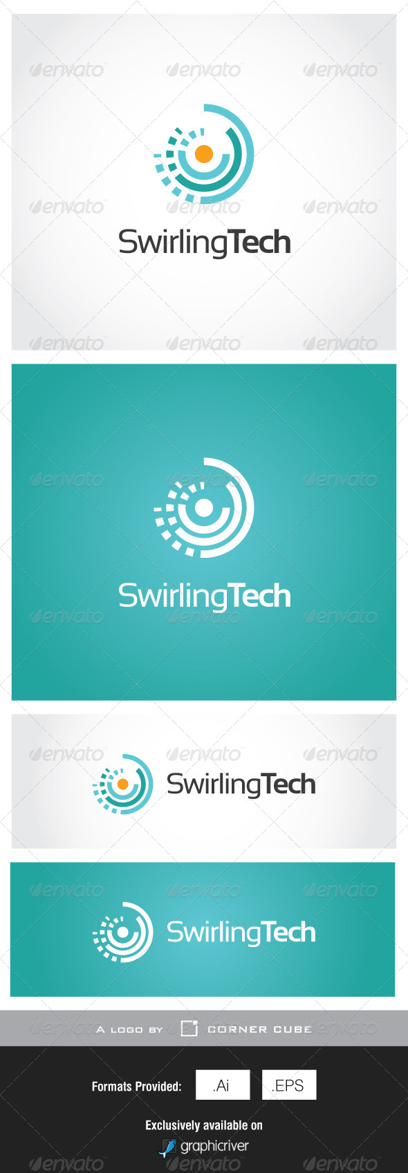Swirling Tech Logo - Logo Templates