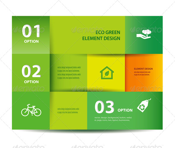 Vector Paper Eco Element And Design Template - Infographics