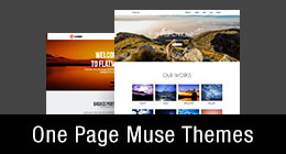 * One Page Muse Templates