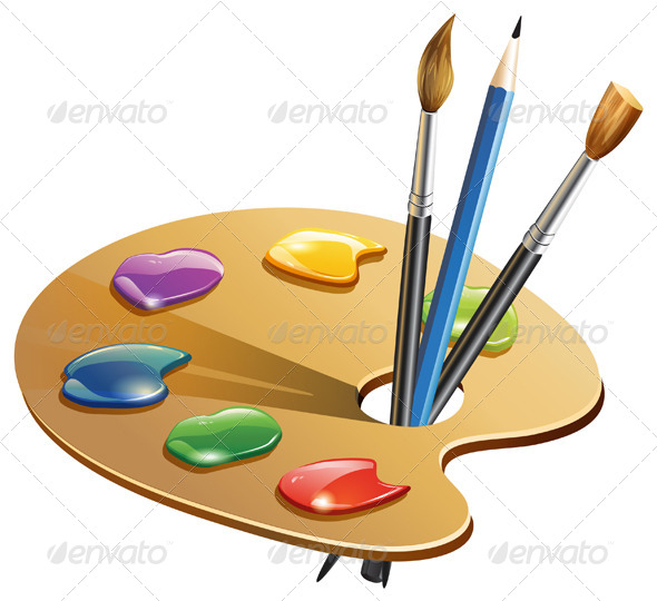 Paint Brush - Illustration - Man-made Objects Objects