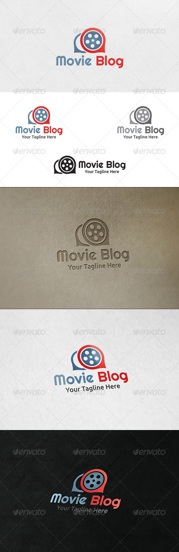 Movie Blog - Logo Template - Symbols Logo Templates