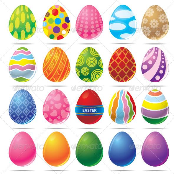 Easter Egg Vector - Decorative Symbols Decorative