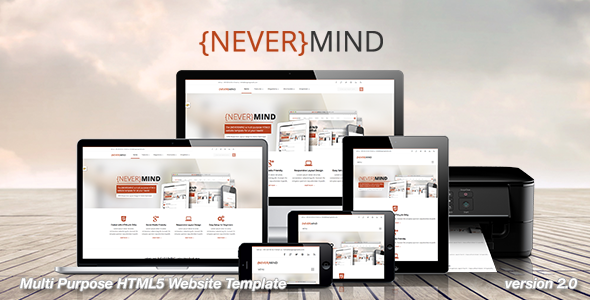 Nevermind – All in One HTML5 Website Template