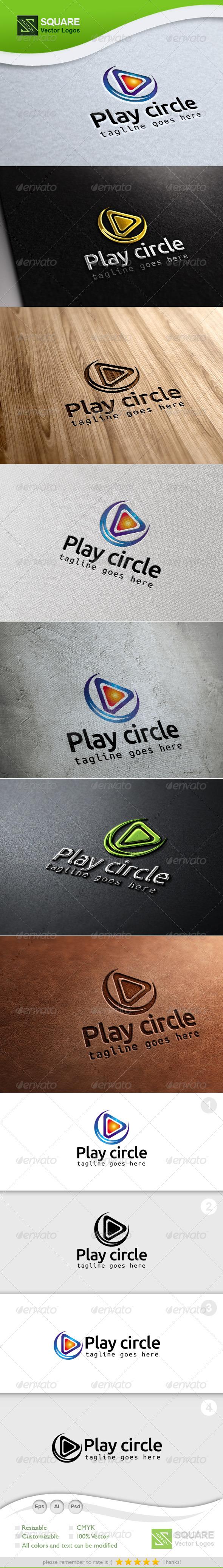 Play, Circle Vector Logo Template - Symbols Logo Templates