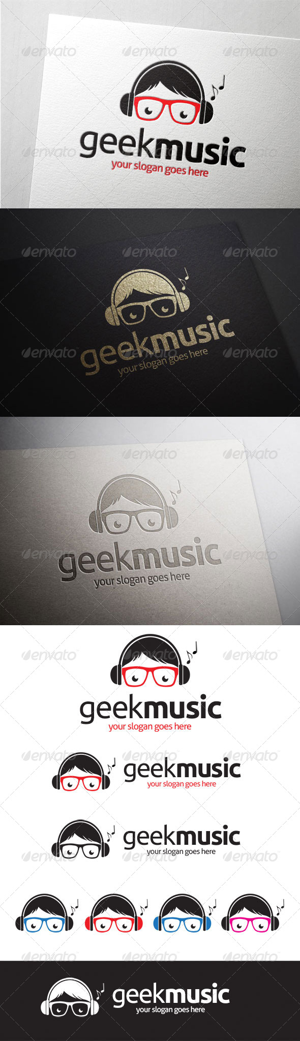 Geek Music Logo - Humans Logo Templates