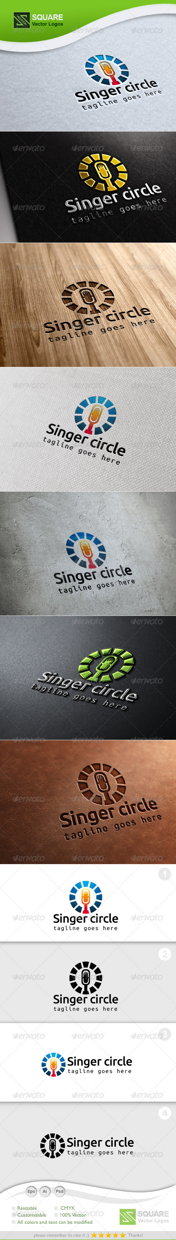 Mic, Circle Vector Logo Template - Symbols Logo Templates
