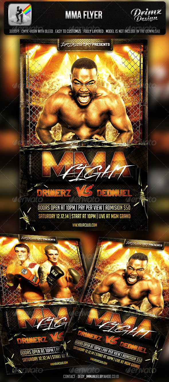 MMA Flyer - Events Flyers