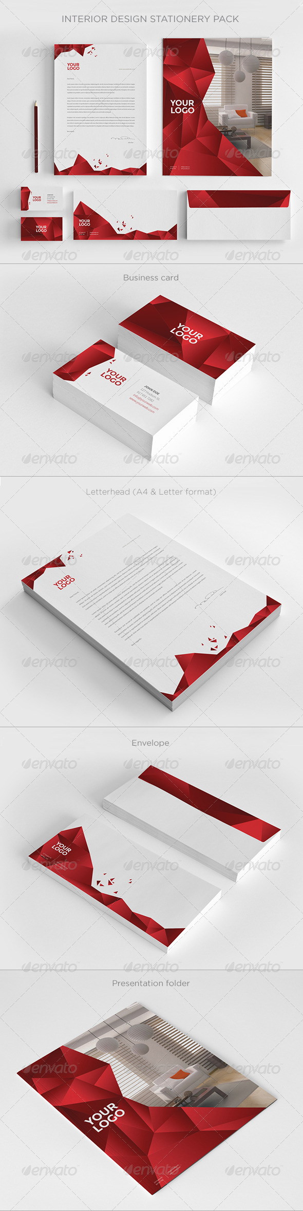 Interior Design Stationery - Stationery Print Templates