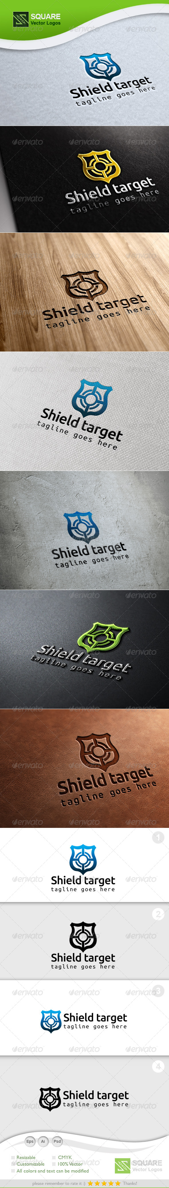 Shield, Target Vector Logo Template - Symbols Logo Templates