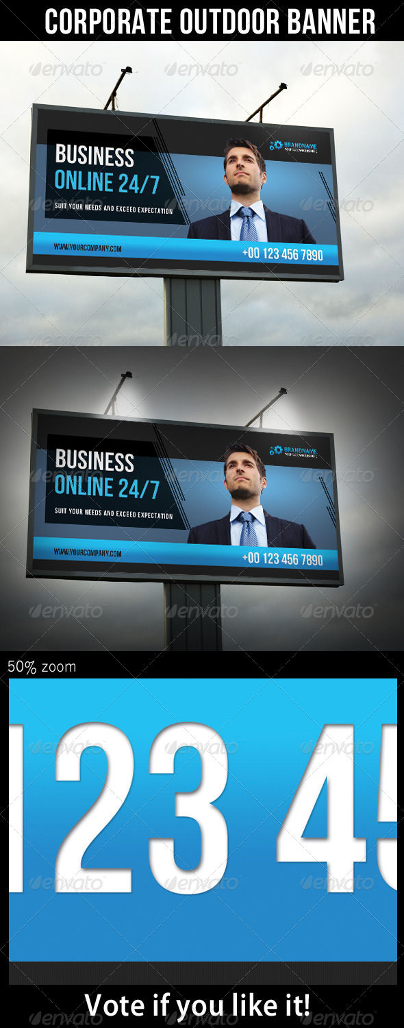 Corporate Outdoor Banner 26 - Signage Print Templates