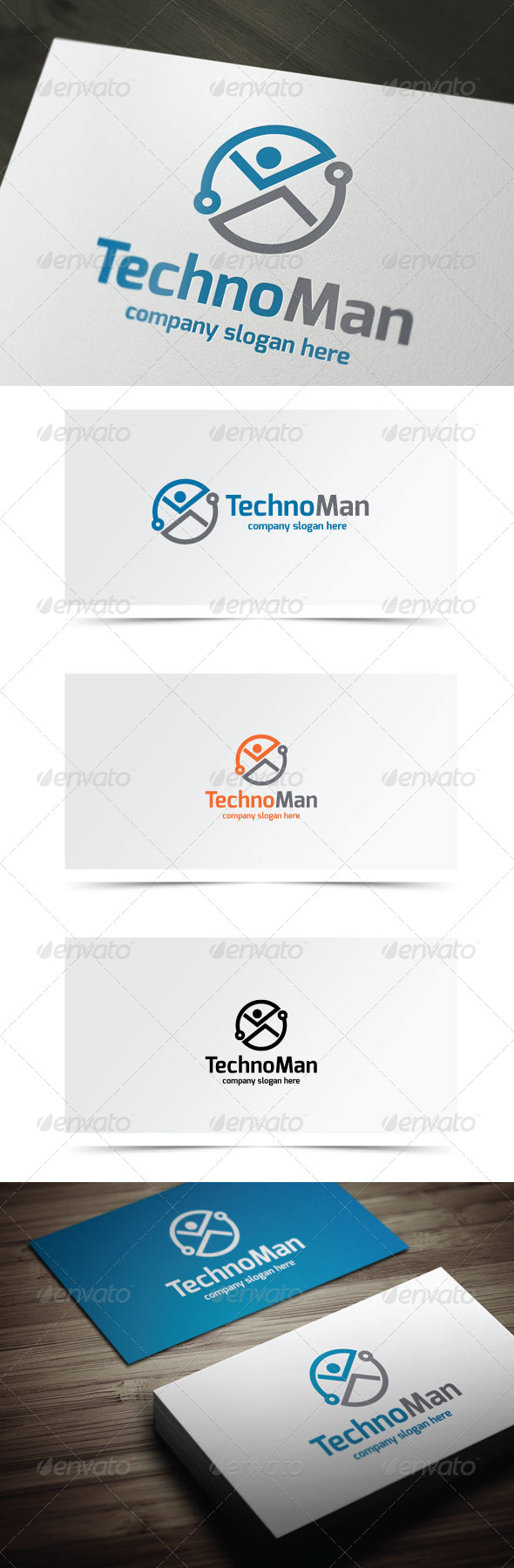 Techno Man - Humans Logo Templates