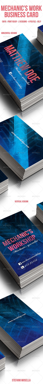 Mechanic's  Workshop  Business Card - Print Templates