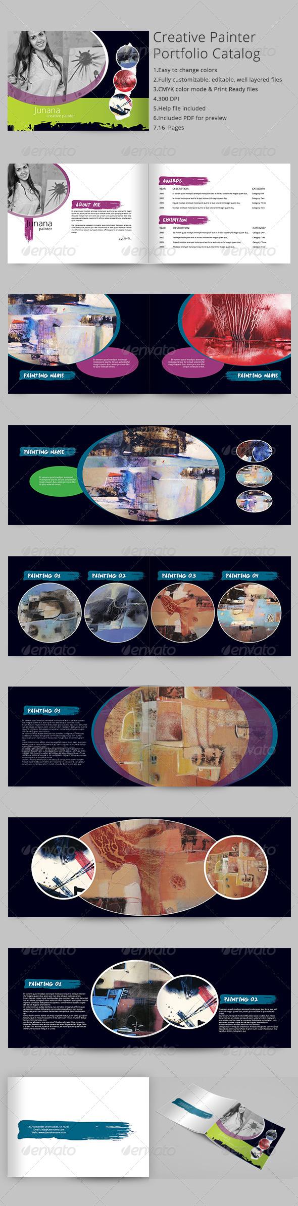 Creative Painter Portfolio Catalog Brochure - Portfolio Brochures