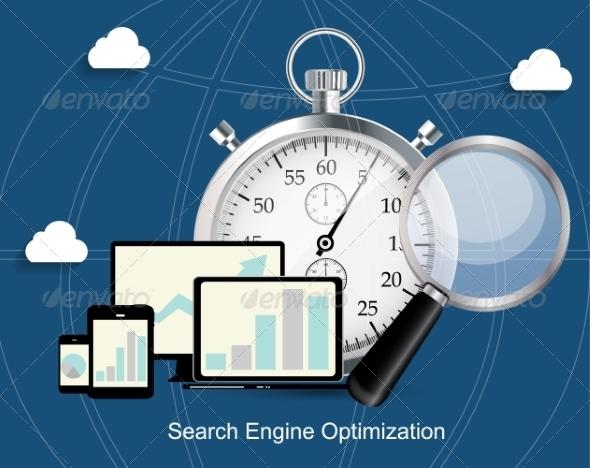 SEO - Search Engine Optimization Flat Icon - Web Technology