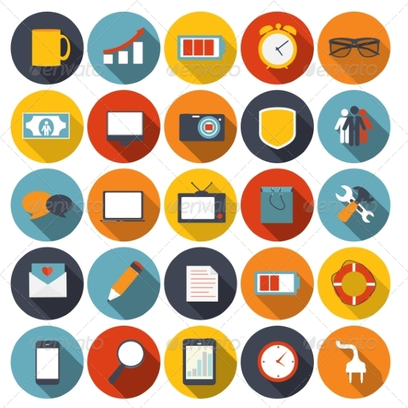Mega Set of Flat Icons Vector Illustration. - Web Technology