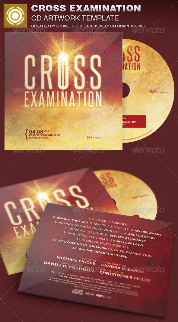 Cross Examination CD Artwork Template - CD & DVD Artwork Print Templates