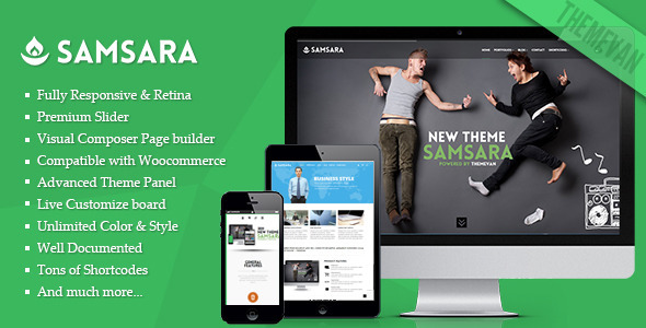 Samsara – Creative Multi-pages and One Page WordPress Theme
