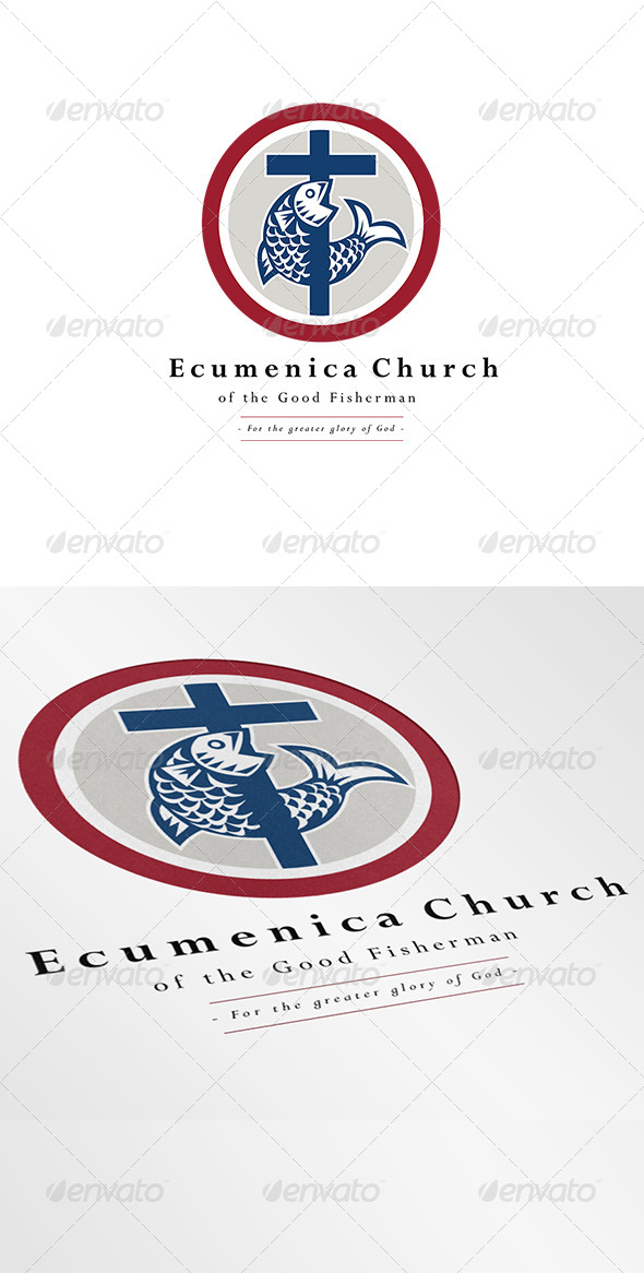 Ecumenica Church Good Fisherman Logo - Symbols Logo Templates