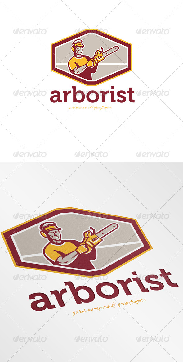 Arborist Gardenscapers and Greenfingers Logo - Humans Logo Templates