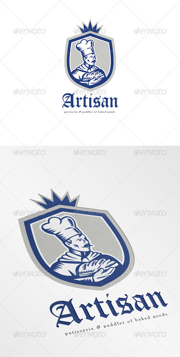 Artisan Patisserie and Peddler of Baked Goods Logo - Humans Logo Templates