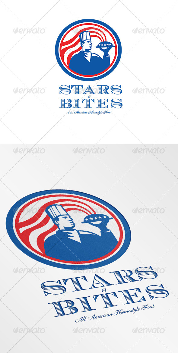 Stars Bites All American Homestyle Food Logo - Humans Logo Templates