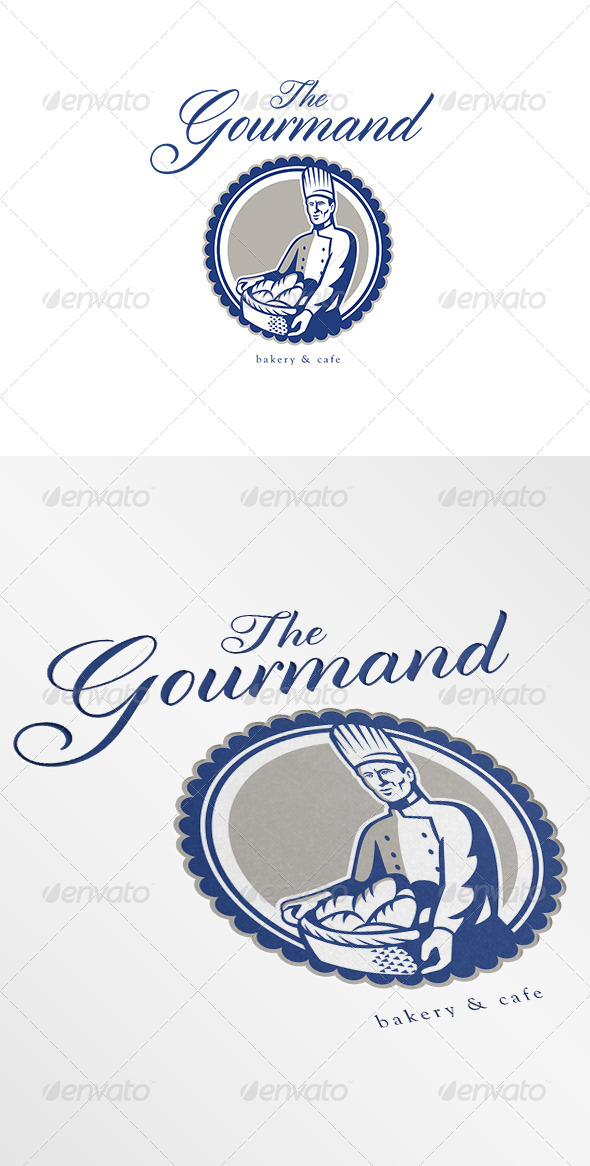 The Gourmand Baker and Cafe Logo - Humans Logo Templates