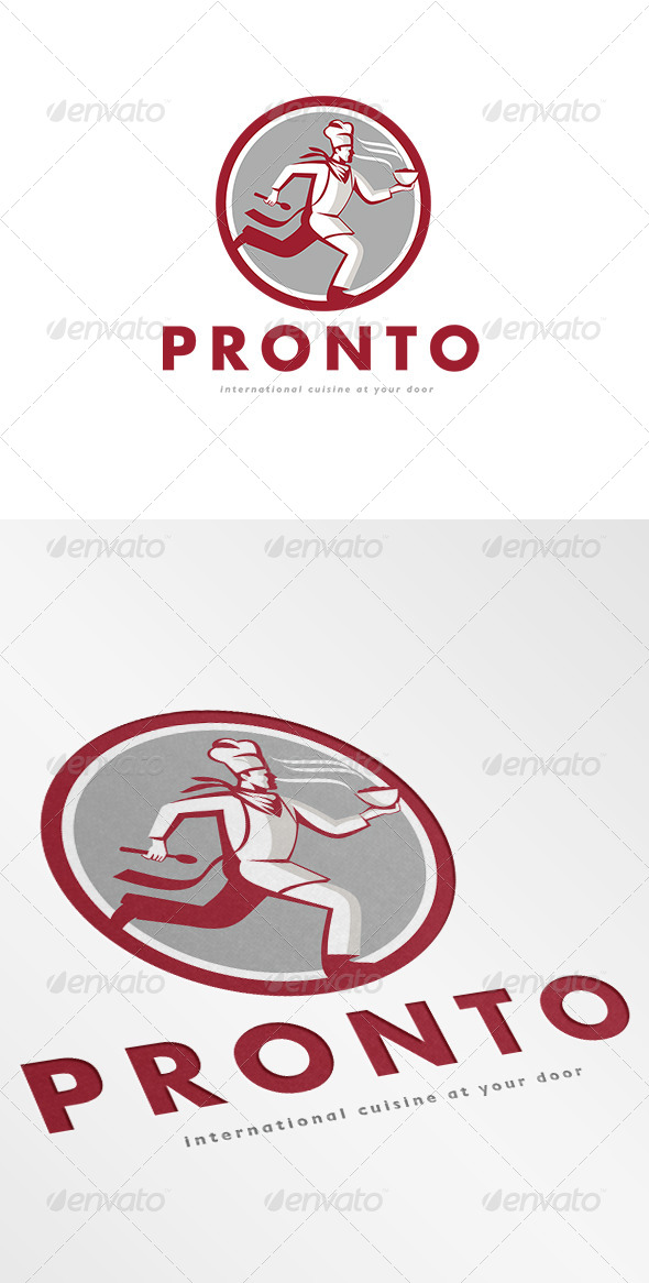 Pronto International Cuisine Logo - Humans Logo Templates